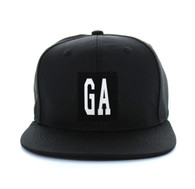 SM525 Georgia State Cotton Snapback (Solid Black)