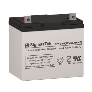 12 Volt 55 Amp Sealed Lead Acid Battery