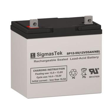 12 Volt 55 Amp Sealed Lead Acid Battery