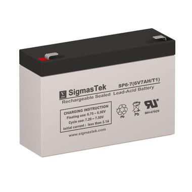 6 Volt 7 Amp Sealed Lead Acid Battery