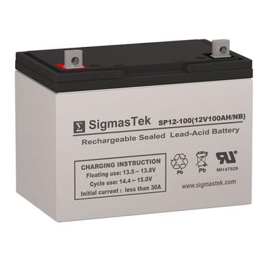 12 Volt 100 Amp Sealed Lead Acid Battery