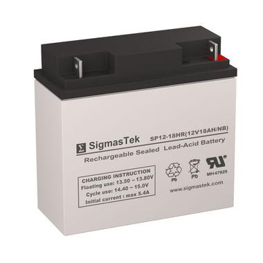 12 Volt 18 Amp HR Sealed Lead Acid Battery