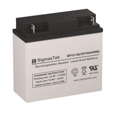 12 Volt 18 Amp Sealed Lead Acid Battery