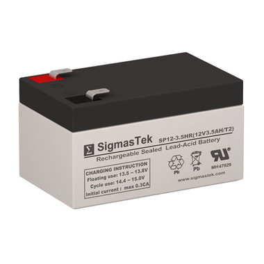 12 Volt 3.5 Amp F2 Sealed Lead Acid Battery