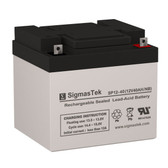 12 Volt 40 Amp Sealed Lead Acid Battery