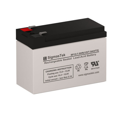 12 Volt 7.5 Amp F2 Sealed Lead Acid Battery