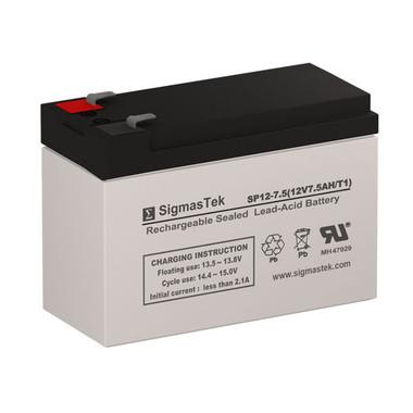 12 Volt 7.5 Amp Sealed Lead Acid Battery