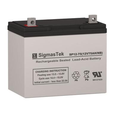 12 Volt 75 Amp Sealed Lead Acid Battery