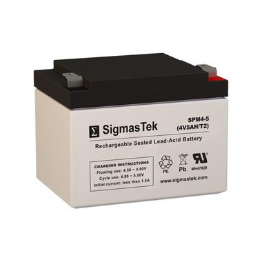 4 Volt 5 Amp Sealed Lead Acid Battery