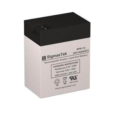 6 Volt 14 Amp FP Sealed Lead Acid Battery