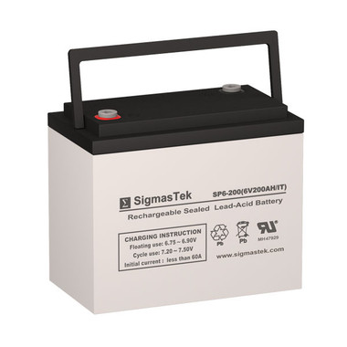 6 Volt 200 Amp Sealed Lead Acid Battery
