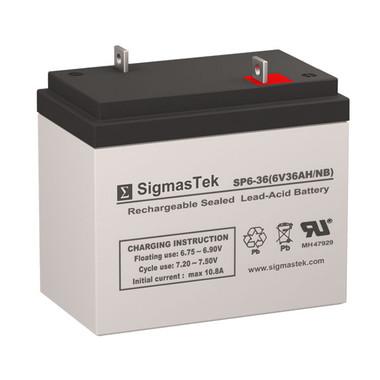 6 Volt 36 Amp Sealed Lead Acid Battery