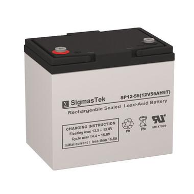 12 Volt 55 Amp IT Sealed Lead Acid Battery