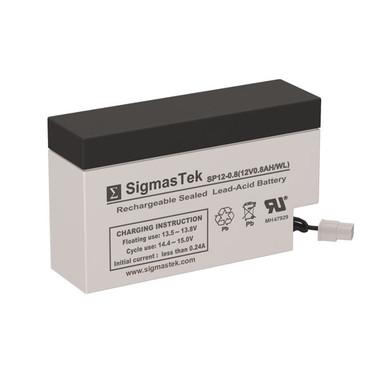 12 Volt 0.8 Amp Medical Battery