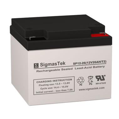 12 Volt 26 Amp F2 Medical Battery