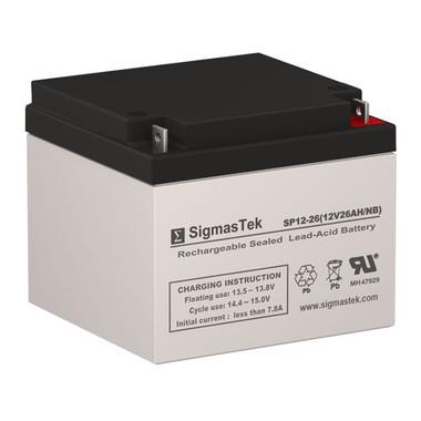 12 Volt 26 Amp Medical Battery