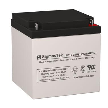 12 Volt 28 Amp Medical Battery