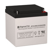 12 Volt 28 Amp Medical Battery