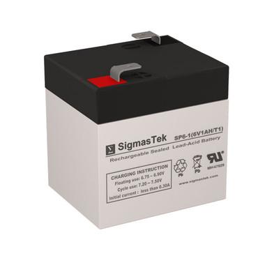 6 Volt 1.1 Amp Medical Battery