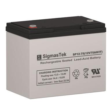 12 Volt 75 Amp UPS Battery