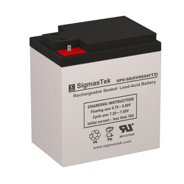 6 Volt 60 Amp Sealed Lead Acid Battery