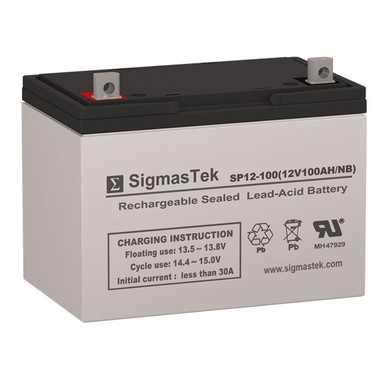 Vision 6FM100E-X Replacement Battery