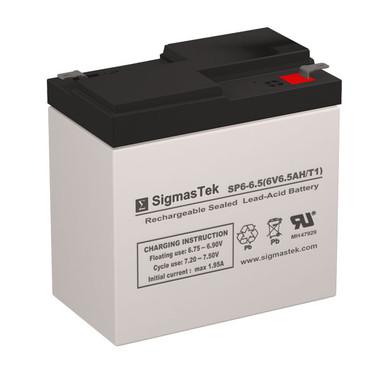 Leoch Battery DJW6-6.5 Replacement Battery