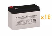 Dell EBM 216V External RM 3U Battery Cabinet K812N UPS Battery Set (Replacement)