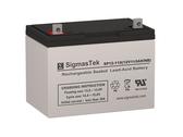 SigmasTek 12 Volt 110 Amp Sealed Lead Acid Battery