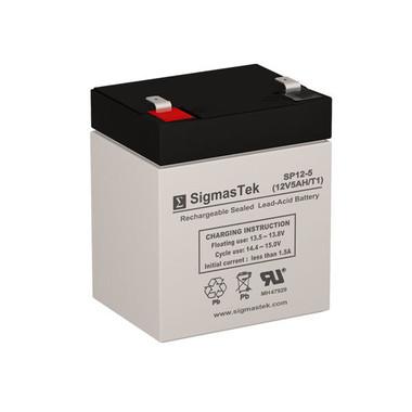 Enerwatt WP5-12 12V 5Ah F1 Replacement UPS Battery