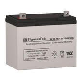 SCADA SP12-75 Solar AGM SLA Battery Replacement 12V 75AmpH