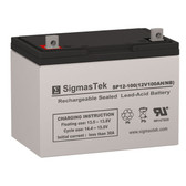 YAKea R100, R100+ Solar SLA Replacement Battery 12V 100AmpH