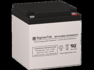 SigmasTek 12 Volt 28 Amp IT Sealed Lead Acid Battery