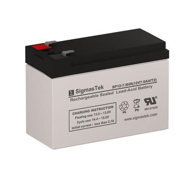 Raion Power RG1280T2 12 Volt 7 Amp Hour T2 Replacement 12V 7.5AH SLA Battery