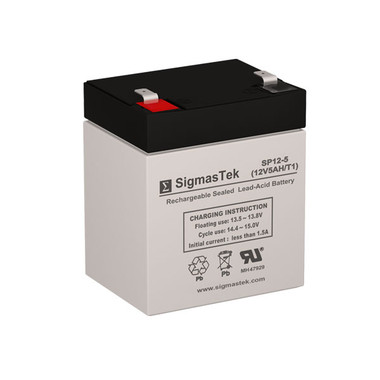 Enduring CB4-12, 12 Volt 5 Amp Hour (F1/T1) Replacement SLA Battery