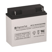 Enduring 6FM17, 12 Volt 18 Amp Hour NB Replacement SLA Battery