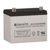 Enduring 6GFM70 (6-GFM-70), 12 Volt 75 Amp Hour NB Replacement SLA Battery
