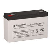 Eagle Picher CF-6V12-F1 Replacement Battery