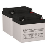 Invacare Panther MX-4 Wheelchair Batteries (Replacement)