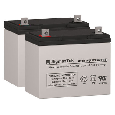 Teftec Beta Trac Wheelchair Batteries (Replacement)