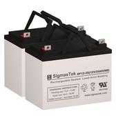 A-Bec Targa 18 Inch Wheelchair Batteries (Replacement)