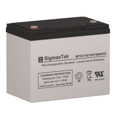 Electric Mobility AGM1265T Wheelchair Battery (Replacement)