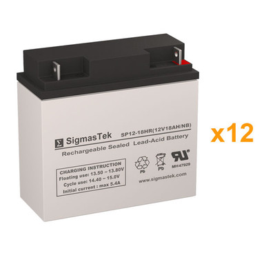 Alpha Technologies CFR 10K (017-083-XX) UPS Battery Set (Replacement)