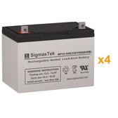 017-079-XX UPS Replacement Batteries Alpha Technologies 5000 Set of 4