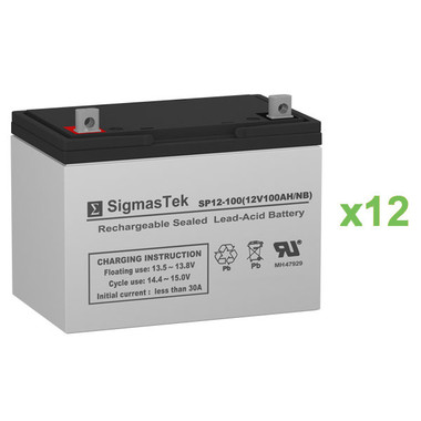 Alpha Technologies EBP 1275-48R (031-041-XX) UPS Battery Set (Replacement)