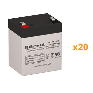 Eaton Powerware PW5125-5/6000 Rackmount UPS Battery Set (Replacement)