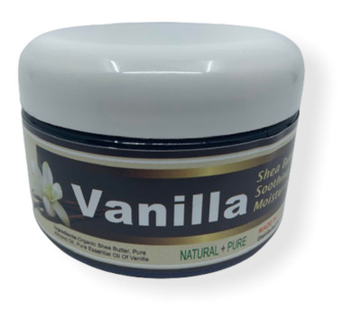 Vanilla Shea Butter moisturizer is perfect for all skin types. All natural and chemical free, made with Pure Essential Oil of Vanilla. Use daily on your Hands and Face for beautiful skin.