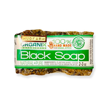 Pure African Black Soap from Ghana, Africa! Natural and Free of Chemicals!