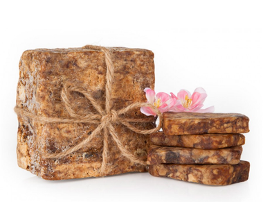 Raw African Black Soap 2 Kilo Slabs  Pure & Authentic From Ghana