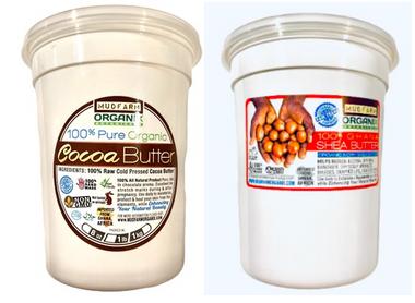 Organic Cocoa Butter & Organic Shea Butter Combo